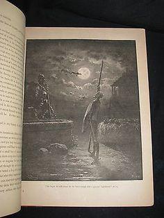 1880 HISTORY OF DON QUIXOTE Cervantes Gustave DORÉ – MFLIBRA - Antique Books