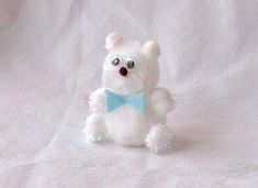 Pom-Pom Polar Bear Craft: Pom-Pom Crafts and Polar Bear Craft Ideas - Kaboose.com