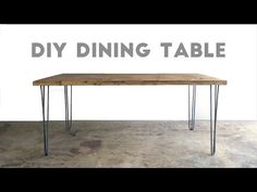 Hairpin Leg Dining Table, Simple Dining Table, Modern Kitchen Tables, Diy Dining Room Table, Dining Furniture, Small Dining, Modern Table, Paint Furniture, Modern Decor