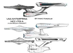 The Refit Constitution Class Heavy Cruiser is what the Enterprise is in the 1st 6 Star Trek movies. Description from deviantart.com. I searched for this on bing.com/images