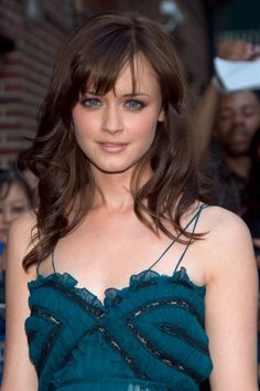 Alexis Bledel's Side Bangs - Further proof that wispy side-bangs can do wonders for the face.