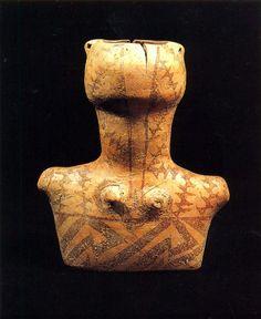 Vaso antropomorfo, Tardo Neolitico (IV-III millennio a.C.), Kamnik. Museo Storico Nazionale di Tirana