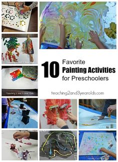 10 favorite painting activities for preschoolers - Teaching 2 and 3 Year Olds