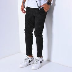 Best Selling Products – Page 4 – GentlemanToBe Business Casual Dresses, Casual Outfits, Men Casual, Repair Jeans, White Ripped Jeans, Patched Jeans, Outfit Combinations, Knit Shirt, Streetwear