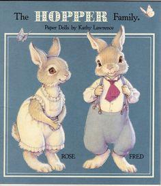 бумажная кукла, кролик