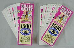 Vintage 1992 Brain Quest 1500 Questions & Answers Both Decks Grade 7 Trivia Game #WorkmanPublishing