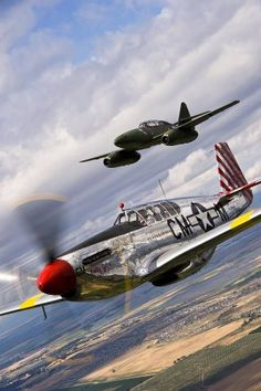 P-51 and ME 262