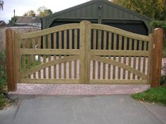 Wooden Gates - Softwood gates created from a clients sketch.  www.crockettsgates.co.uk