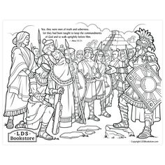 Stripling Warriors Coloring Page - Printable