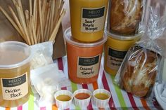 Our Ideas :: Soup Swap - garnish - Package Life's Moments