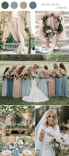 dusty blue and neutral beige wedding color ideas dusty blue and neutral beige wedding color ideas Spring Wedding Colors Blue, Lavender Wedding Colors, Popular Wedding Colors, Beige Wedding, Wedding Colours, Wedding Themes, Wedding Ideas, Trendy Wedding, Unique Weddings