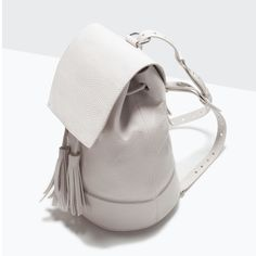 ZARA - - - BUCKET BACKPACK WITH TASSEL