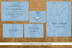 Printable Wedding Stationary Set