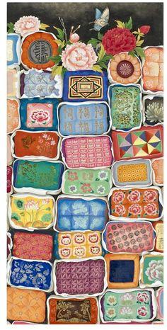 Korean Design, Asian Design, Korean Art, Asian Art, Korean Style, Korean Traditional, Traditional Art, Modern Hanbok, Korean Painting