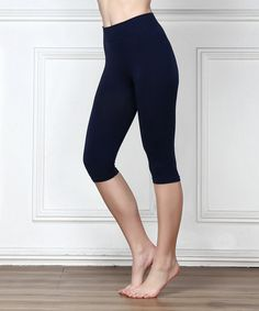 Take a look at this Navy Seamless Three-Quarter Leggings today!