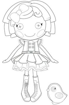Does your kid love Lalaloopsy dolls? Lalaloopsy are the sweetest rag dolls that you can think of. Check out 20 free printable Lalaloopsy coloring pages here Mermaid Coloring Pages, Pattern Coloring Pages, Cool Coloring Pages, Coloring Pages To Print, Coloring Sheets, Coloring Books, Cabbage Patch Kids Dolls, Lalaloopsy Party, Felt Patterns