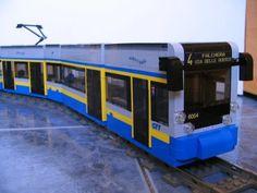 """tram Cityway  """"6054"""" two-way Schaal: 1:38  Bouwjaar: 2009  Aantal stukjes: 1150 ca."""