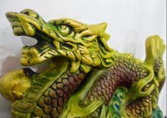 Ateliê Le Mimo: ORIENTAIS  Dragão - peça em gesso