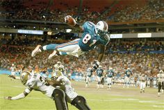 Randy McMichael, Miami Dolphins vs. New Orleans Saints, 2002 preseason (© Bob Rosato/Sports Illustrated/Getty Images)