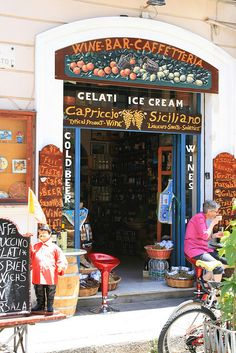Cefalu, Sicily, Italy - the ice-cream is gorgeous - it can be served in a cone, but more often served in a brioche bun - sounds odd, but works really, really well!!