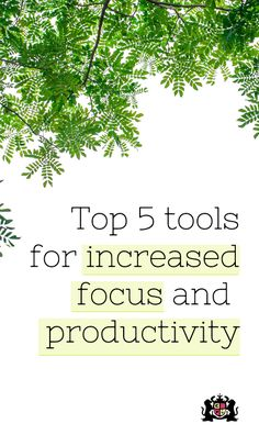 Find out more about the top 5 tools for increased focus and productivity from a virtual assistant. #productivity #tools #marketing #focus