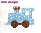 Machine Embroidery Applique Design Train