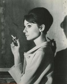 audrey hepburn during the filming of charade, 1963