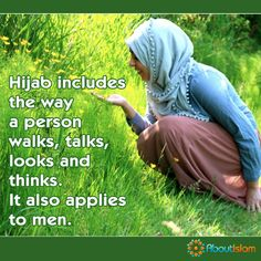 Hijab is not just a head covering. It also applies to men. Hijab Quotes, Beautiful Muslim Women, Islamic Qoutes, Hennas, Allah Islam, Islamic World, Spiritual Path, Hijabs, Sufi