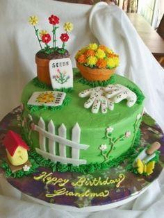 Garden Cake 70th Birthday Grandma Cakes