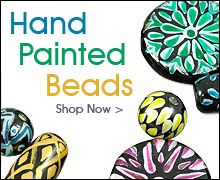 Hand Painted Beads (and other beads and findings) available at JewelrySupply.com  Sign up for emails so you can find out about their sales/specials.