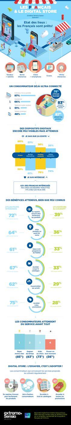 #Infographies : les français sont connectés et où sont les magasins connectés ? by Ricardodasilva.fr