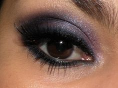 Normally I don't stray from neutrals && my normal smokey eye, but i love this pop of purple. Classy yet packs a punch.