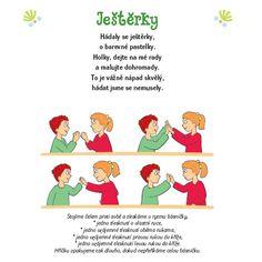 básničky pro děti - Hledat Googlem Kindergarten, Yoga For Kids, Kids Education, Excercise, Toddler Activities, Kids And Parenting, Preschool, Classroom, Children