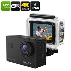 MGCOOL Explorer Pro Action Camera - Interpolated 4K, IP68, Sony IMX179 Image Sensor, 170-Degree Lens, 1050mAh, App Control, 16MPKey Features...  Compact and lightweight action camera shoots stunning video and 16MP picturesSony IMX170 Image Sensor produc ...