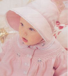 Sewing Baby Girl Love it! Have this pattern - should find a little one that I could make this for in the Spring. - patterns available in size 6 months: Smocking Plates, Smocking Patterns, Easy Baby Blanket, Baby Bonnets, Little Girl Dresses, Baby Dresses, Dress Girl, Poncho, Precious Children