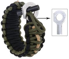 The Friendly Swede Adjustable Premium Paracord Bracelet with Fire Starter and Hidden Eye Knife * Details can be found by clicking on the image.