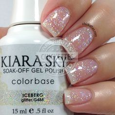 Kiara Sky recently launched a new collection called Mirror Image that is comprised of 14 new colors! Kiara Sky is a gel polish (base coat is o… Sky Nails, Sparkle Nails, Glitter Nail Polish, Love Nails, Pretty Nails, Gel Overlay Nails, Gel Nail Colors, Dipped Nails, Powder Nails