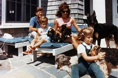 Kennedy family and their dogs