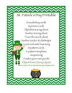 St. Patricks Day Printable