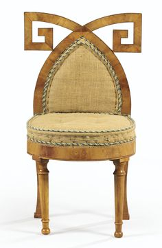 A SET OF SIX ITALIAN, VALNUT veneered DINING CHAIRS, BOLOGNA, FIRST HALF OF THE 19TH CENT., CIRCA 1820-1830, Attributed To ANTONIO BASOLI