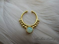 14kt Gold Plated Sterling Silver Septum Ring by ShankaraTrading
