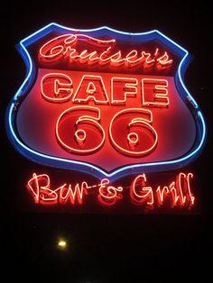 A Route 66 sign in Williams, AZ ~ by Jennifer Garlen (Virtual Virago) via Flickr