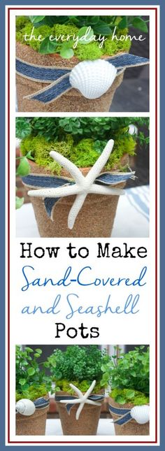 How to Make Sand Covered Pots from The Everyday Home | www.everydayhomeblog.com
