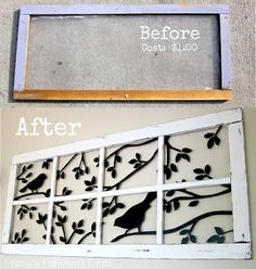 Today's Fabulous Finds: Decorative Faux Window (with vinyl): Before and After