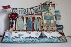 Beach Themed stepper Father's Day card