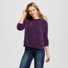 Women's Pullover Sweaters - Merona Purple Xxl