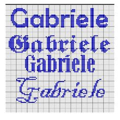 Gabriele1 Different Stitches, Cross Stitch, Alice, Anna, Cross Stitch Art, Cross Stitch Patterns, Cross Stitch Letters, Cross Stitch Embroidery, Names