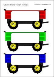 Editable tractor trailer templates (SB9578) - SparkleBox