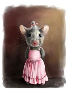 Mademoiselle Picture (2d, character, mouse, mice, moadmozel, humor)