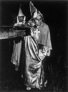 W. Eugene Smith's photograph of a Ku Klux Klan (KKK) meeting in South Carolina in 1951.
